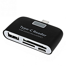 Bakeey 4 in 1 Type c USB 3.1 USB 2.0 Memory Card U Flash Disk TF OTG Card Reader for Mobile Phone