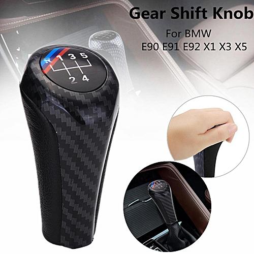 5 Speed Bmw Genuine Gear Shift Stick Knob Leather Chrome For Bmw E90 E91 E92 X1