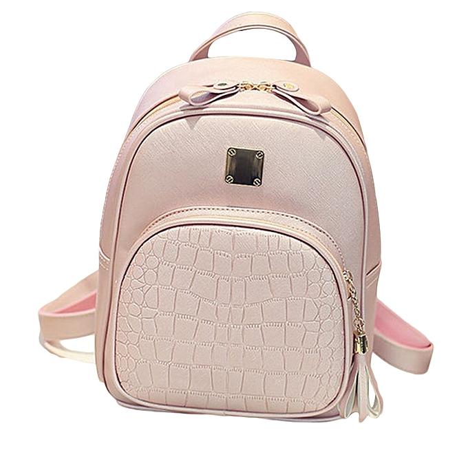 6adc4f102d1ec jiuhap store New Fashion Women Backpacks Girl School Bag High Quality  Ladies Bags PK- pink