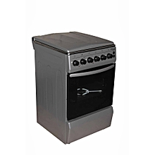 SGC5470-MS-Electric Cooker 50X55 with 3 Gas Burners + 1 Hot Plate-Stainless steel-TOP- Grey