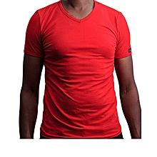 Fashionable Plain Red T- Shirt