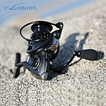 TSURINOYA NA2000 3000 4000 5000 9BB 5:2:1 Fishing Spinning Reel Fish Tool-BLACK
