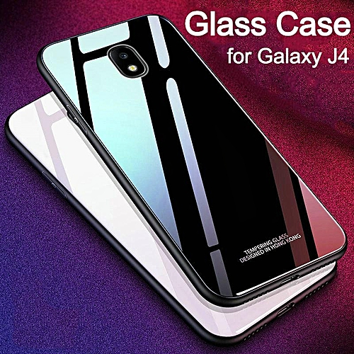 buy popular d8429 50429 Glass Case For Galaxy J4 2018 Full Protection Tempered Glass Back Cover  Housing For Samsung Galaxy J4 Casing Shell