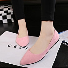 Women flat pointed shoes light pink