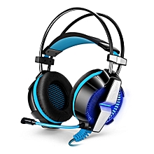 KOTION EACH GS700 Gaming Headsets Headphones with LED Light Microphone Noise Canceling for PS4 / PC / Mobile Phone - BLUE