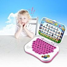 Baby Kids Bilingual Alphabet Learning Study Toy Educational Laptop Computer Game Gift