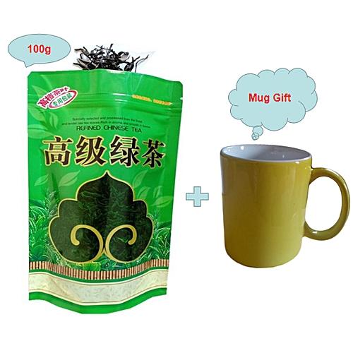 Chinese Green Tea Losing Weight Tea 100g, Get One Free Mug Cup