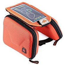 CBR B2 - 2 EVA Outdoor Portable Front Beam Bag Touch Screen Pouch for Bicycle Bike Cycling Orange