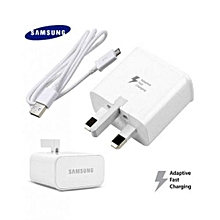 3 Pin Samsung Flash Charger - White