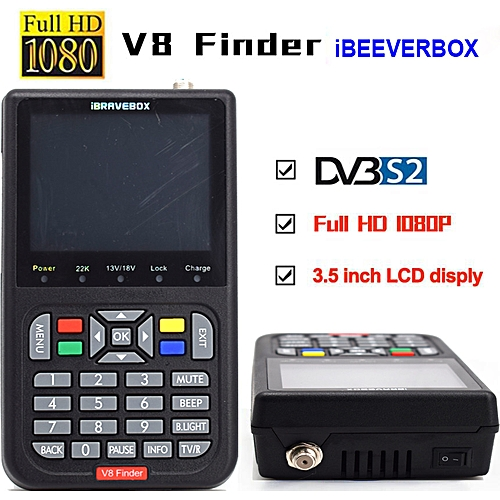 iBRAVEBOX V8 Finer HD DVB-S2 Satellite Finder Meter (Black)