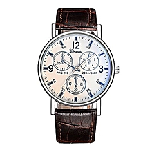 bluerdream-Women's Men Casual Quartz Leather Band Newv Strap Watch Analog