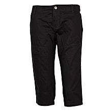 Black Three Quarter Boys Shorts