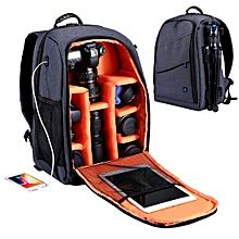 PULUZ PU5011 Outdoor Portable Waterproof Scratch-proof Dual Shoulders Backpack Camera Bag Grey
