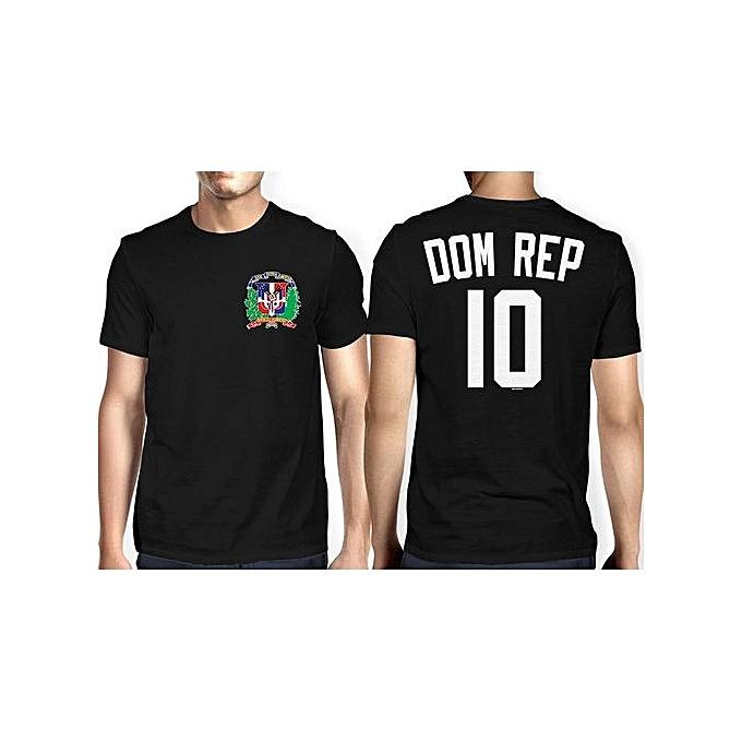 bc528f7ef64 DIY Cotton Funny Tee Shirts Mens Dominican Republic - Soccer Football T- shirt Size