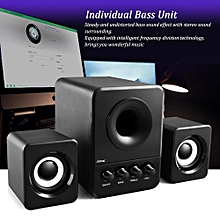 SADA D-203 USB Wired Combination Speaker Computer Speaker Bass Stereo Music Player Subwoofer Sound Box for Desktop Laptop Notebook Tablet PC Smart Phone LBQ