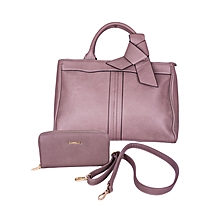 2 in 1 Grey Fashionable Handbag