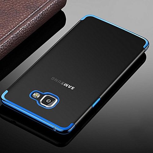 new product d3f46 85443 For Galaxy J5 Prime Soft Case Transparent Plating Electroplate Shining  Clear Casing For Samsung Galaxy J5 Prime Cover Housing 168223 (Blue)