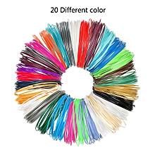3D Pen Filament Refills, 1.75mm PLA With Total Of 20 Different Colors 3D Printing Pens Filaments Supplies For 3D Print Pen - Color Randomly, 5m