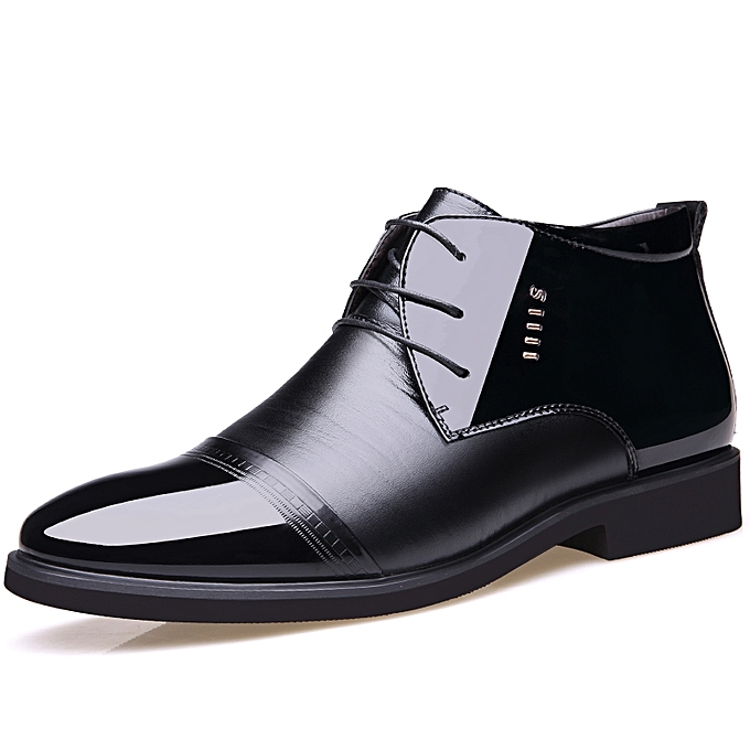 6094ba7f1a16 ... Winter High Tops Formal Office Shoes Men Business Casual Shoes (Black)