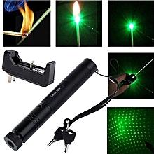 Military 532nm 5mw 303 Green Laser Pointer Lazer Pen Burning Beam +Charger