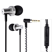 SUR S1025 3.5MM Plug In-ear Dynamic Stereo Earphones With Microphone(GRAY)