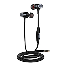 Hiamok_EH360 Universal 3.5mm In-Ear Stereo Earbuds Earphone With Mic For Cell Phone BK
