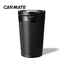 OR CAR MATE Multifunctional Car Ashtray Smokeless With LED Lights Solar Powered Black
