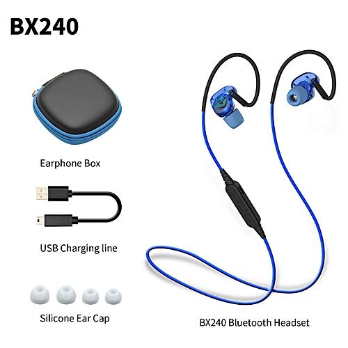 LEBAIQI Plextone BX240 Sport Bluetooth Earphone Waterproof Ear Hook Earbuds Wireless Headset Headphone With Microphone