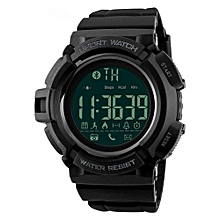 1245BL Bluetooth Men Sports Smart Watches Pedometer Fashion Waterproof Digital Wristwatches - Black