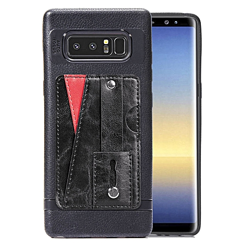 new style 648c6 39990 Galaxy Note 8 Case,Slim Durable Sleek Leather Wallet Back Cover with Credit  Card Slots Kickstand and Wrist Strap Shockproof Stand Phone Case for ...