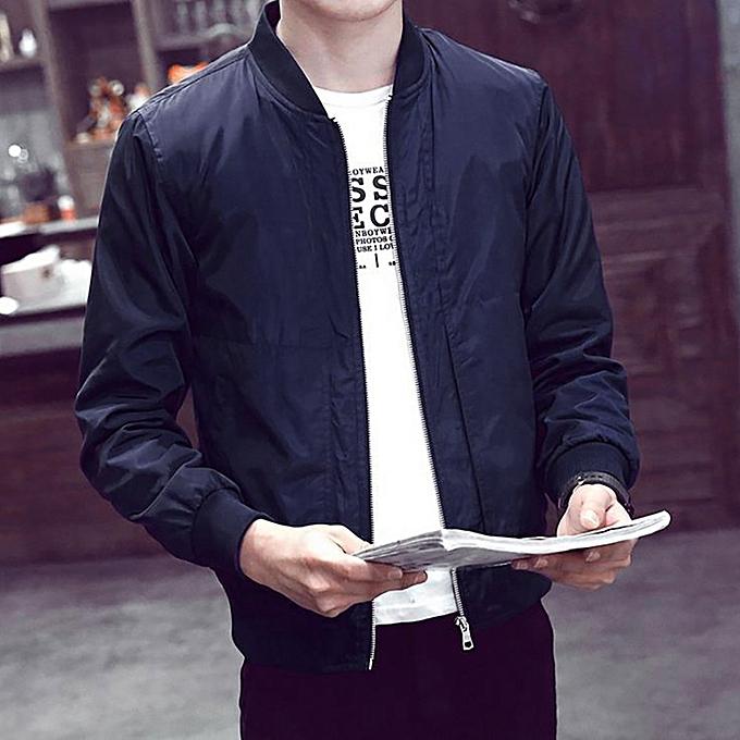 672164970f5d2 Hiamok Men Winter Warm Jacket Overcoat Outwear Slim Long Sleeve Zipper Tops  Blouse