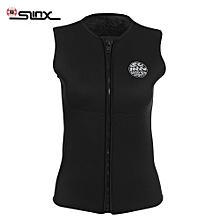 Outdoor Unisex 3MM Sleeveless Wetsuit Vest For Diving Surf Windsurf Kitesurfing - Black