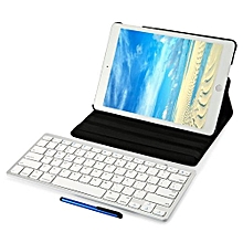 4 In 1 Wireless Bluetooth Keyboard Stylus Pen 360 Degree Rotating Smart Case Cover Screen Film For IPad Air 2