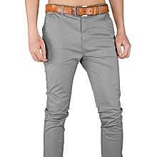 Khaki Men's Trouser Stretch Official/Casual - Light Grey