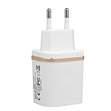 S5242 Universal USB Charger 12W 2.4A Dual Port USB Wall Charger Power Adapter for iOS Android Smartphones Tablet PC Power Bank EU Plug