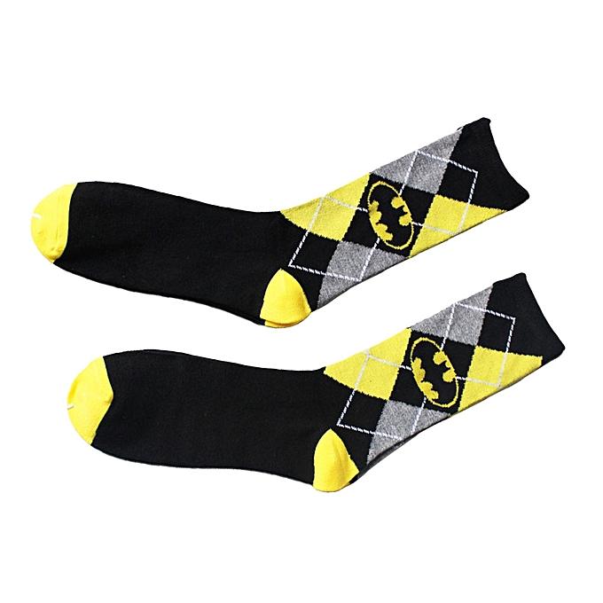 Unisex Batman Cotton Socks Design Multi-Color Dress Women's Men's Casual Socks