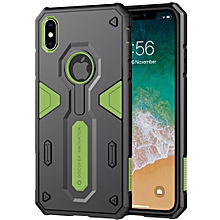 NILLKIN Tough Defener II Case Shockproof TPU + PC Case for iPhone XS Max (Green)