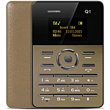 AIEK Q1 1.0 inch Ultra-thin Card Phone FM Audio Player Sound Recorder Calendar Calculator GOLDEN