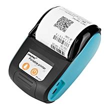 Wireless Bluetooth Thermal Receipt Printer Portable Business Bill Printer 58 mm 110-240 V (Blue, BS)