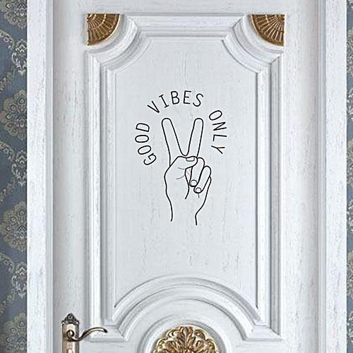 04721e383 SEC Shop GOOD VIBES ONLY Home Decor Wall Sticker Decal Bedroom Door Vinyl  Art Mural