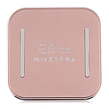 CW2 PU Leather Aluminum Alloy Frame Wireless Charging Station - Rose Gold