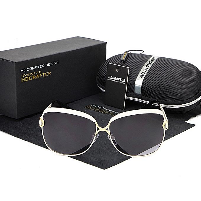 b39f56507e New celebrity retro fashion ladies Sunglasses Women Polarized Sung lasses UV400  cat eyes Alloy Legs Shades