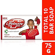 Total Bar Soap - 75 g + FREE Soap Dish.