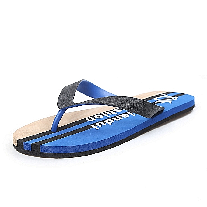 e5851278172da Fashion HOT Men's Flip-Flop Leisure Summer Sandal Shoes Cool Slippers Beach  Sandals Swimming Shoes-Blue