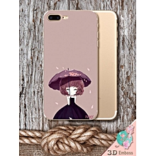 Phone Cover Girl With Umbrella Sweet Phone Case For Iphone6/6s/6 plus/6s plus7/7plus____IPHONE 6/6S____rose