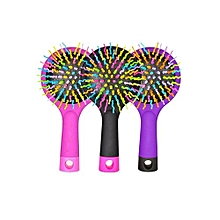 Rainbow Comb Volume Brush Magic Hairbrush With Mirror For Hair Tangle