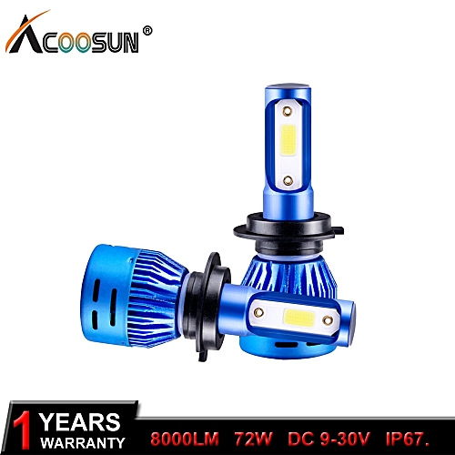H4 Led H7 LED Car Headlight Bulbs H1 H11 6500K 12V 9005 HB3 9006 HB4 9012  72W 8000LM Auto Headlamp Fog Light 6500K 24V( 8000LM 2 Pcs)