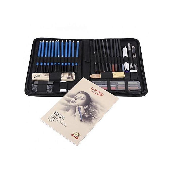 ... 48PCS Professional Sketching Drawing Pencils Kit Carry Bag Art Painting Tool Set Student Black ...