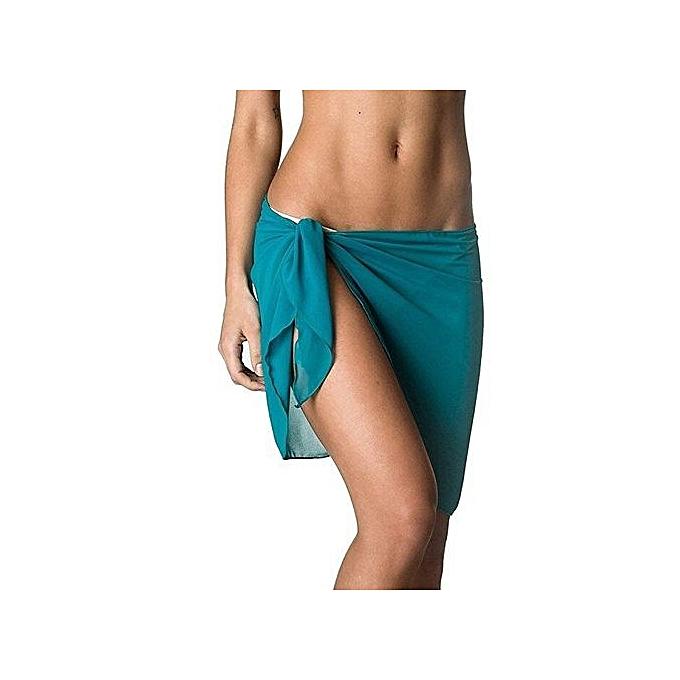 243606cb0d354 Coqueta Woman Swimwear Chiffon Cover Up Beach Towel Sarong Pareo Canga  Swimsuit Wrap