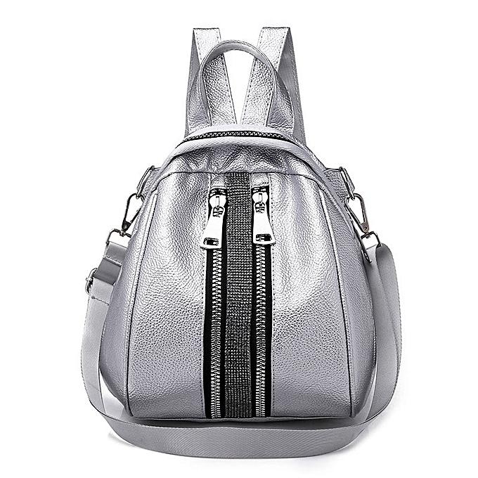 a537f916bfd Women Backpack High Quality PU Leather Backpacks for Teenage Girls Female  School Shoulder Bag Bagpack Shell Type mochila XA504H(Silver)